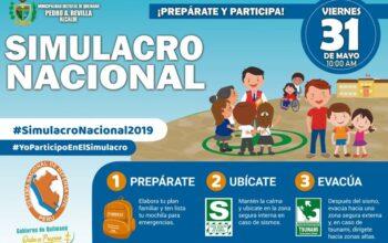 SIMULACRO DE SISMO Y TSUNAMI 31 de Mayo 2019