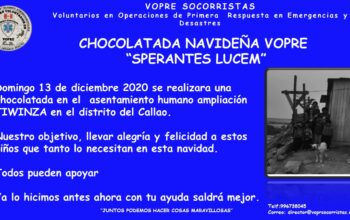 CHOCOLATADA NAVIDEÑA VOPRE SPERANTES LUCEM 2020