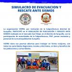 SIMULACRO DE EVACUACIÓN Y RESCATE ANTE SISMO  SUBPREFECTURA DE SURQUILLO